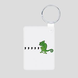 Comma Chameleon Aluminum Photo Keychain