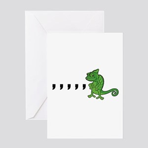 Comma Chameleon Greeting Card