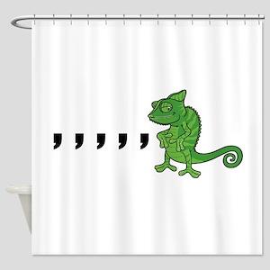 Comma Chameleon Shower Curtain