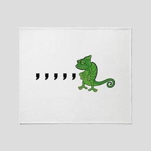 Comma Chameleon Throw Blanket