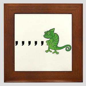 Comma Chameleon Framed Tile