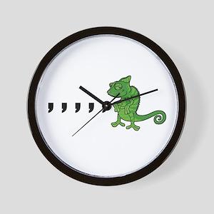 Comma Chameleon Wall Clock