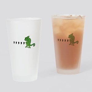 Comma Chameleon Drinking Glass