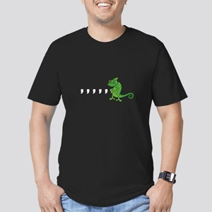 Comma Chameleon Men's Fitted T-Shirt (dark)