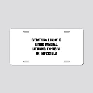 Fattening Expensive Impossible Aluminum License Pl