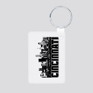 Cincinnati Skyline Aluminum Photo Keychain