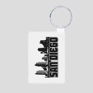 San Diego Skyline Aluminum Photo Keychain