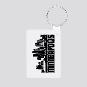 Minneapolis Skyline Aluminum Photo Keychain