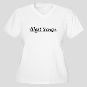 West Fargo, Vintage Women's Plus Size V-Neck T-Shi