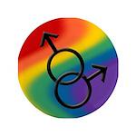 Gay Pride Rainbow Love Button
