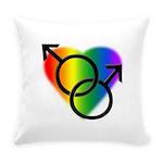 Gay Pride Rainbow Love Everyday Pillow