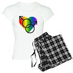 Gay Pride Rainbow Love Women's Light Pajamas