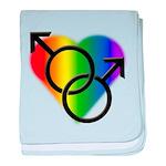 Gay Pride Rainbow Love baby blanket