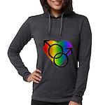 Gay Pride Rainbow Love Womens Hooded Shirt