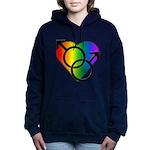 Gay Pride Rainbow Love Women's Hooded Sweatshirt