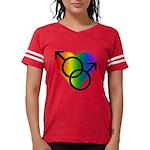 Gay Pride Rainbow Love Womens Football Shirt