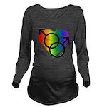 Gay Pride Rainbow Lo Long Sleeve Maternity T-Shirt
