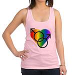 Gay Pride Rainbow Love Racerback Tank Top