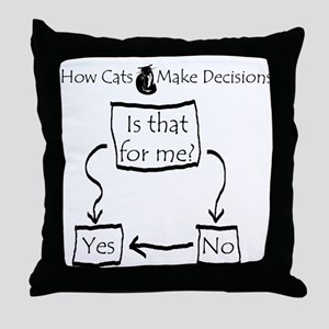 How Cats Make Decisions Throw Pillow