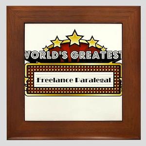 World's Greatest Freelance Paralegal Framed Tile