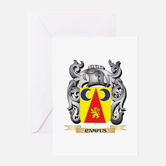 Campus Family Crest - Campus Coat o Greeting Cards