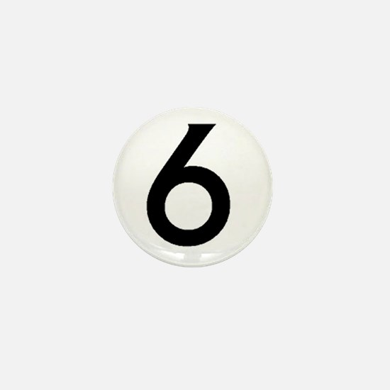 Number Six Mini Button