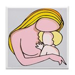 Mother & Child Love Tile Coaster