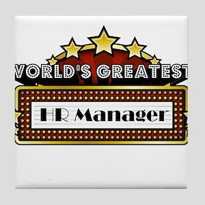 World's Greatest HR Manager Tile Coaster