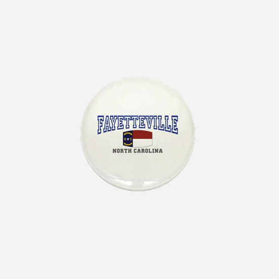 Fayetteville, North Carolina, NC, USA Mini Button