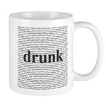 drunk words Mug