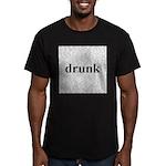 drunk words Men's Fitted T-Shirt (dark)