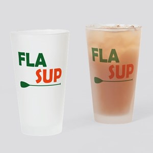 Florida Stand Up Paddling Drinking Glass
