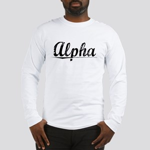 Alpha, Vintage Long Sleeve T-Shirt