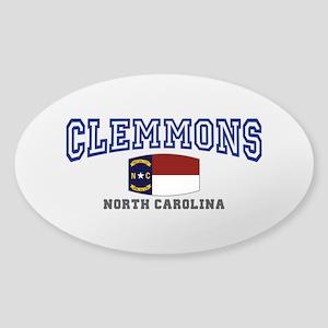 Clemmons, North Carolina, NC, USA Sticker (Oval)