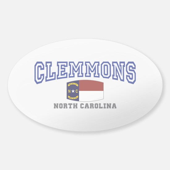 Clemmons, North Carolina, NC, USA Sticker (Oval)