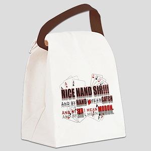 NICE HAND SIR! Canvas Lunch Bag