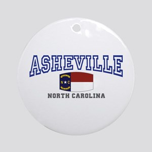 Asheville, North Carolina, NC, USA Ornament (Round