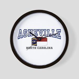 Asheville, North Carolina, NC, USA Wall Clock