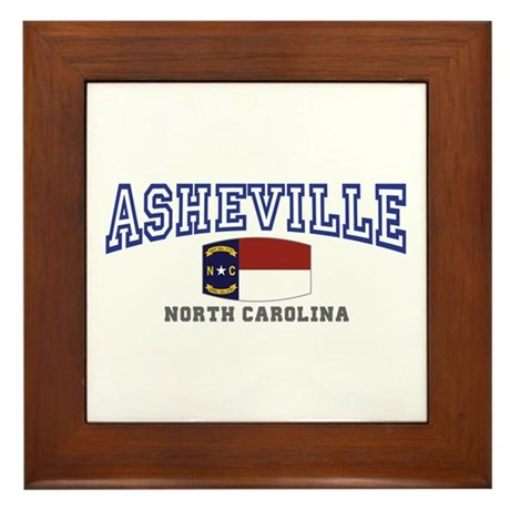 Asheville, North Carolina, NC, USA Framed Tile