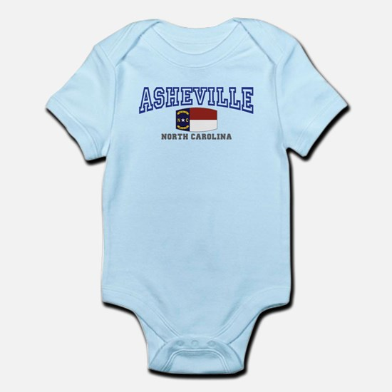 Asheville, North Carolina, NC, USA Infant Bodysuit