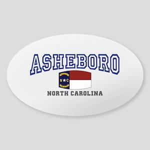 Asheboro, North Carolina, NC, USA Sticker (Oval)