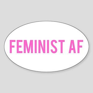 Feminist AF Bumper Sticker Sticker