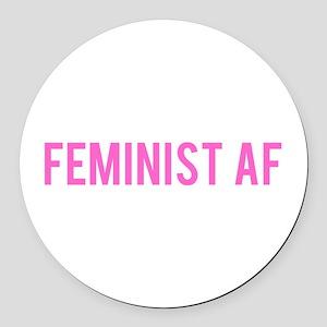 Feminist AF Bumper Sticker Round Car Magnet