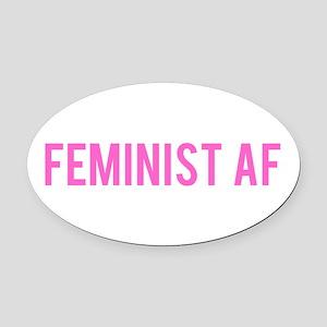 Feminist AF Bumper Sticker Oval Car Magnet