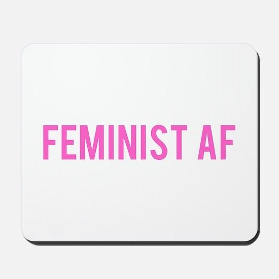 Feminist AF Bumper Sticker Mousepad