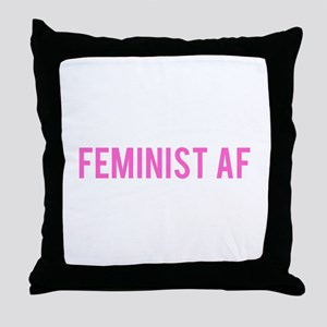 Feminist AF Bumper Sticker Throw Pillow
