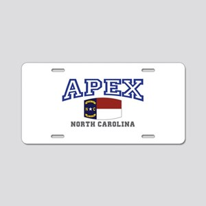 Apex, North Carolina, NC, USA Aluminum License Pla