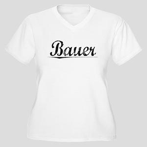 Bauer, Vintage Women's Plus Size V-Neck T-Shirt