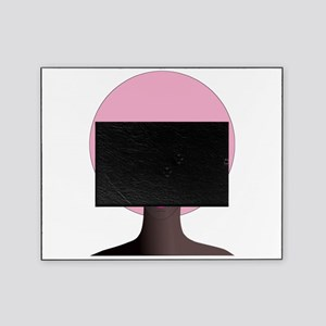 Woman with Pink Afro Picture Frame
