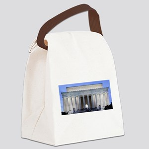 Lincoln Memorial Canvas Lunch Bag